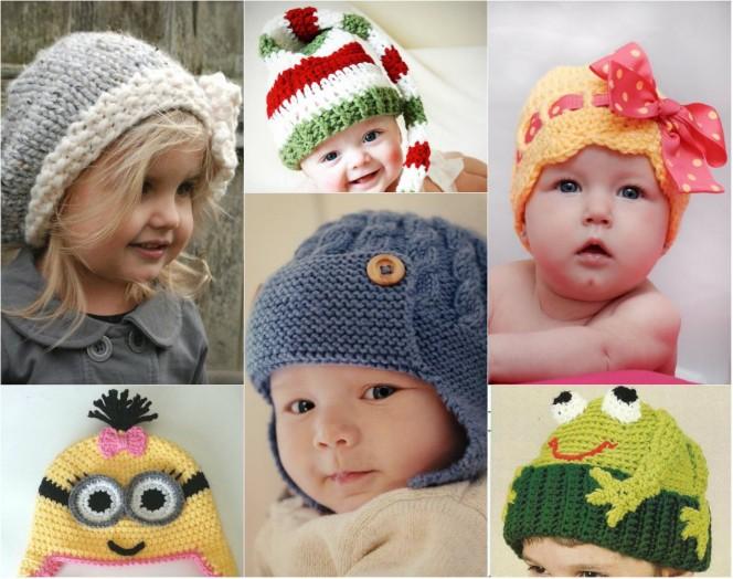 Плетени детски шапки