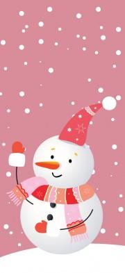 Снежен човек - картинка за оцветяване