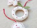 Коледни играчки от филц