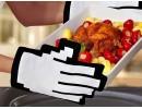 Готварска ръкавица във формата на 8-битова ръка