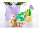 Боядисване на яйца с лентички