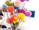 Цветно настроение с ПОМПОНИ в декора на дома